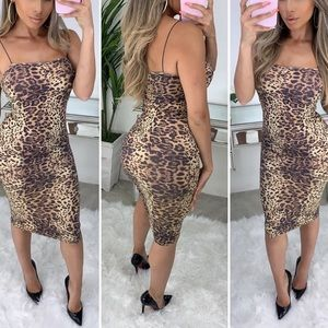 NEW | Leopard Seamless Midi Bodycon Dress